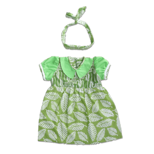 dress batik anak hijau